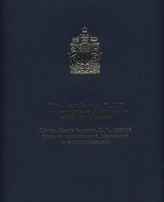 Kinda's-honouring-Certificate---Canadian-Parlemaint